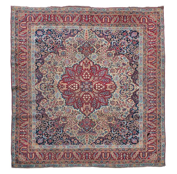 A Persia Kirman Laver end 19thcentury. Overall good condition.