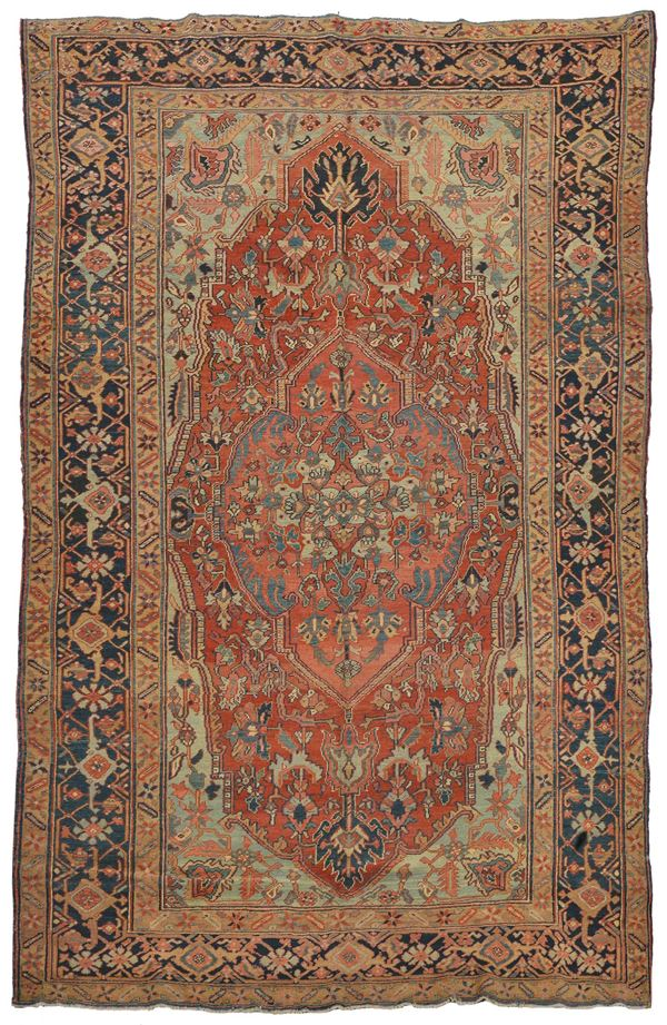 A northwest persia carpet, Heritz early 19th cemtury. Overall very good condition.