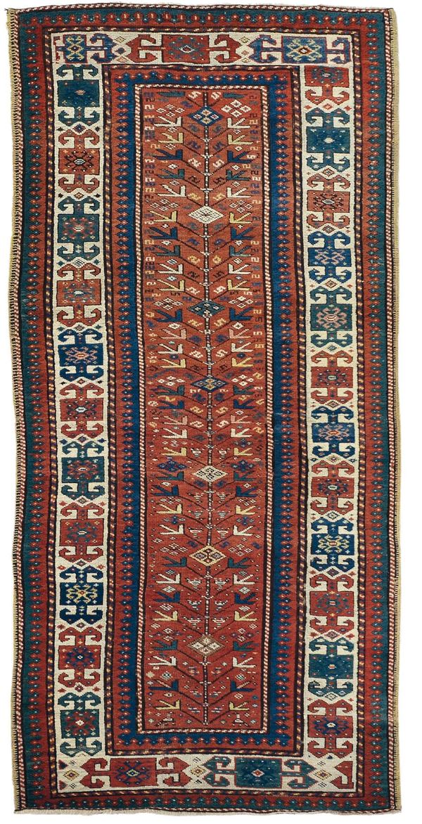 A runner carpet Kasak caucasus end 19th century. Overal very good condition.
