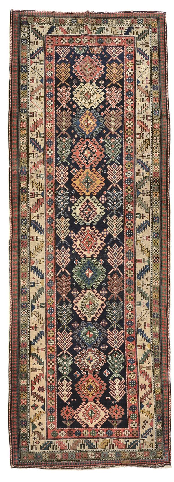 Kasak long rug, late 19thcentury. Overal very good condition.