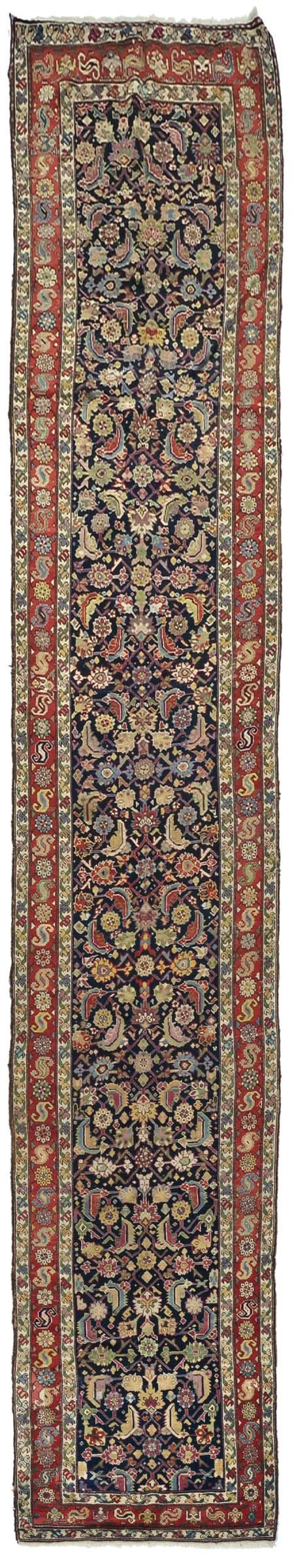 A runner caucasus Karabagh, end 19th century. Overal very good condition,replaced sides.