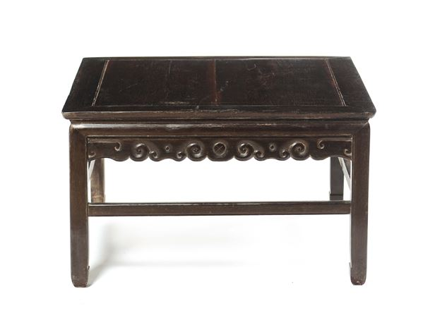 A short Homu wood table, China, Qing Dynasty, 19th century