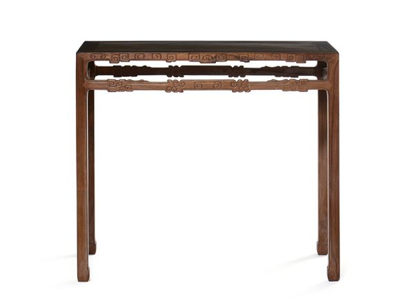 A Homu wood console, China, Qing Dynasty, 19th century