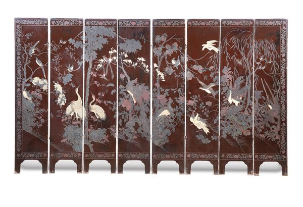 A Coromandel screen with figures an landscapes, China, Qing Dynasty,  18th century