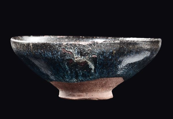 A blue and black hare's fur Jian bowl, China, Song Dynasty (960-1279)