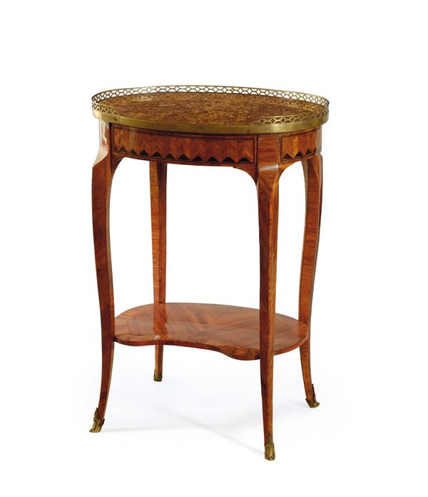 A small oval table, Transition period, France, late 18th century