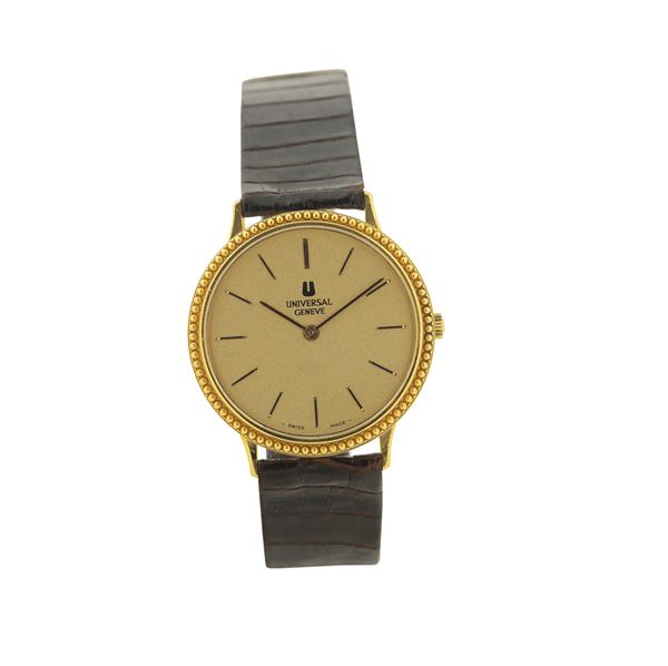 Universal Geneve,18K yellow gold wristwatch. Made in the 1980's.