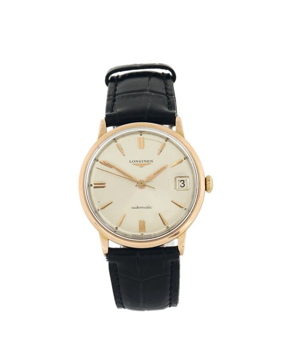 Longines, Automatic, 18K pink gold. Made in the 1960's.