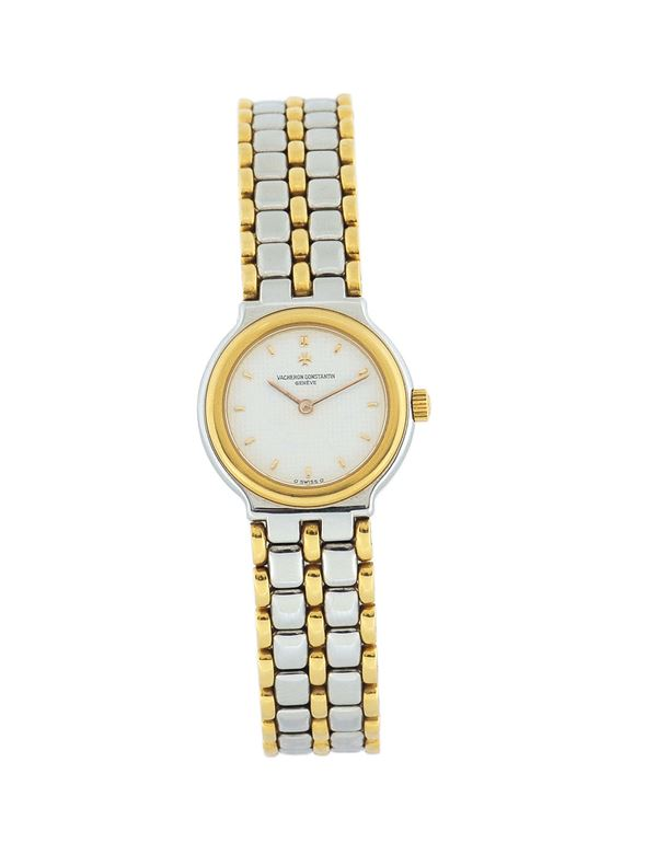 Vacheron Constantin, Ref.15040, case No. 578095, steel and gold lady's quartz wristwatch. Made in the 1990's. Accompanied by a Vacheron Constantin box and Certificate.