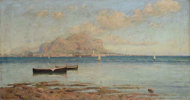 Mario Mirabella (Palermo 1870-1931)<br>Paesaggio  - Auction 19th and 20th century paintings - Cambi Casa d'Aste