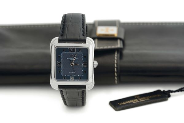 Vacheron Constantin, Toledo Ref. 42100. Made  in the 2000's. Very fine, square  curved, self-winding,  [..]