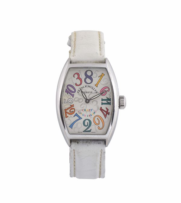 Franck Muller, Genève, Crazy Color Dreams No. 91, Ref. 5850, tonneau-shaped and curved, self-winding,  [..]