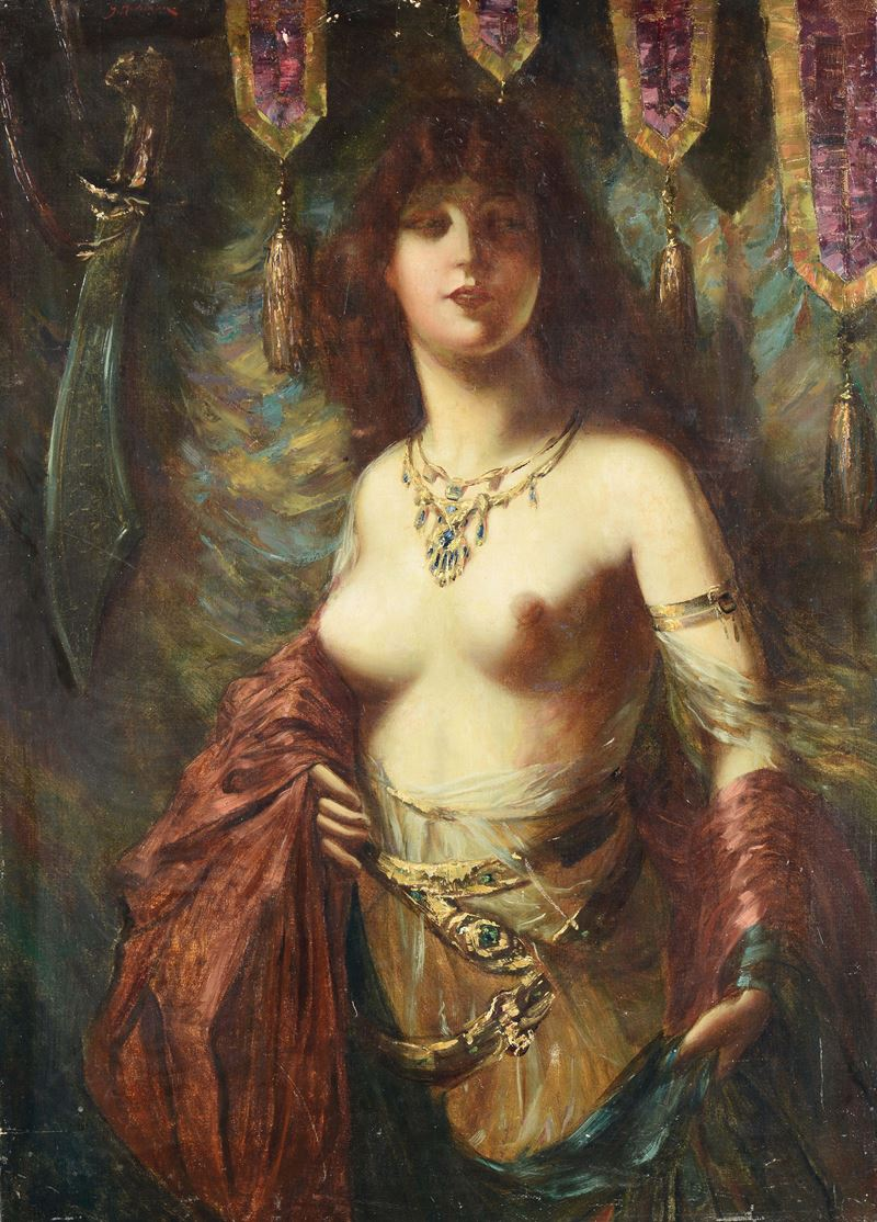 Anonimo del XIX secolo<br>Salomè  - Auction 19th and 20th century paintings - Cambi Casa d'Aste