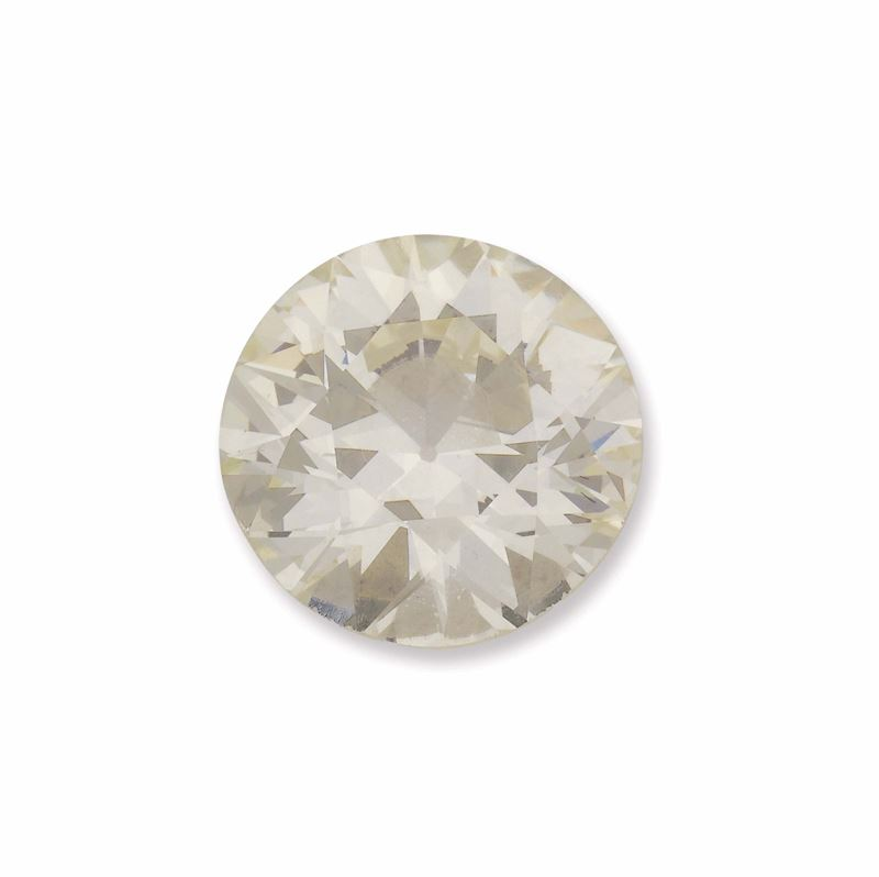 Umounted old-cut diamond weighing 6,92 carats. R.A.G. report  - Auction Fine Jewels - I - Cambi Casa d'Aste