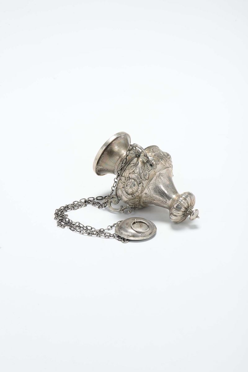 A silver votive lamp, Venice, 19th century.  - Auction Modern and Contemporary Silvers - Cambi Casa d'Aste
