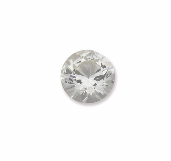 Unmonted brilliant-cut diamond weighing 3,08 carats