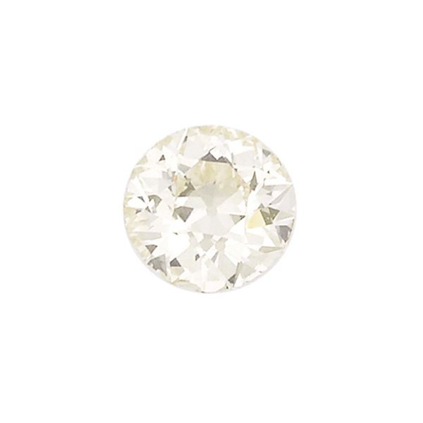 An unmounted old- -cut diamond weighing 3,65 carats. R.A.G report