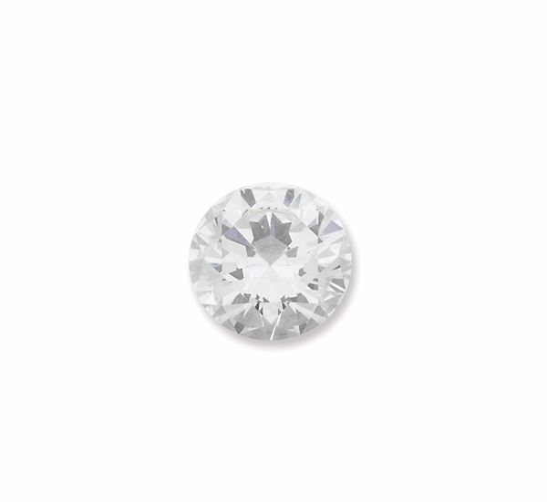 Unmounted round brilliant - cut diamond weighing 3,15 carats. GECI report