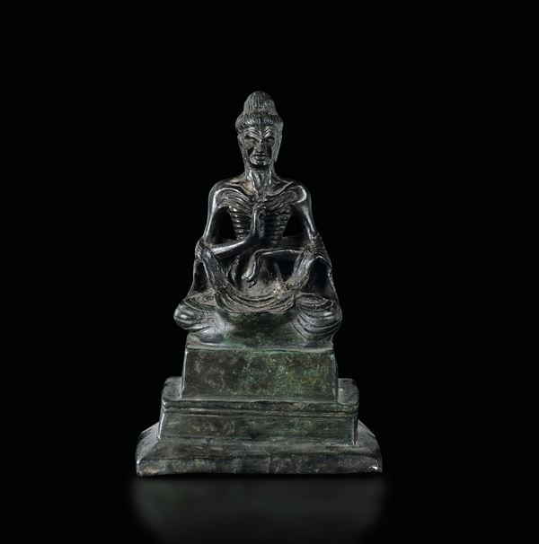 A bronze figure of Luohan, Thailand, 17th century