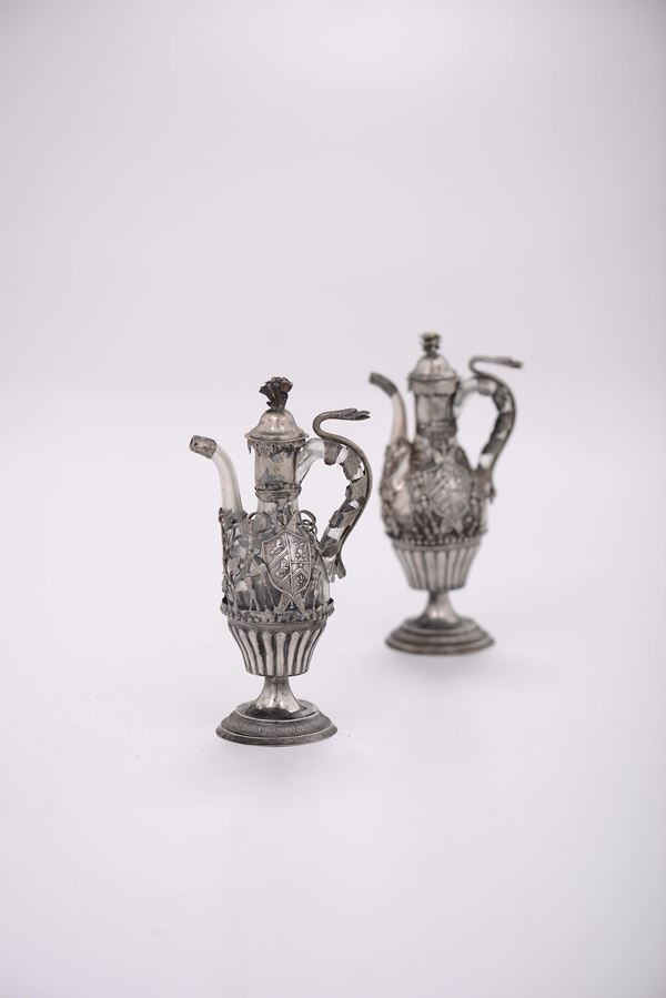 An Eucharist set, likely Italian manufacture of the second half of the 18th century, Sicily (?)
