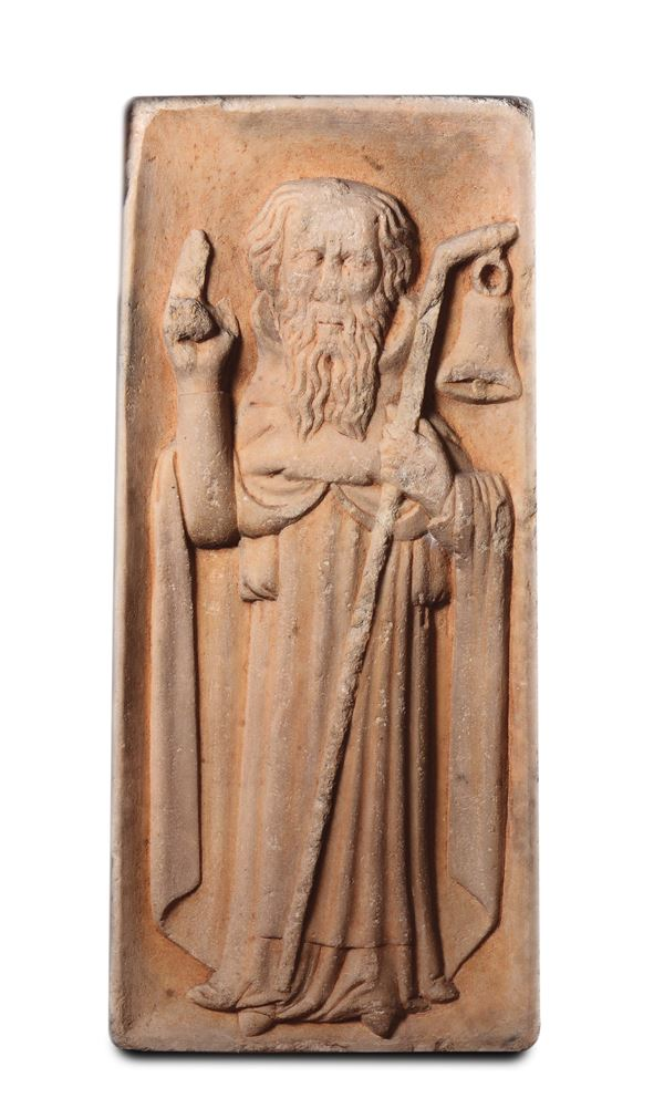 Saint Anthony the Great. A sculptor from Northern Italy, 14th-15th century. S.Antonio Abate