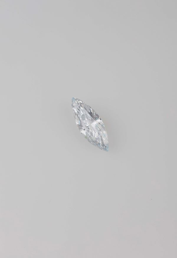 Unmounted marquise-shaped diamond weighing 5.63 carats