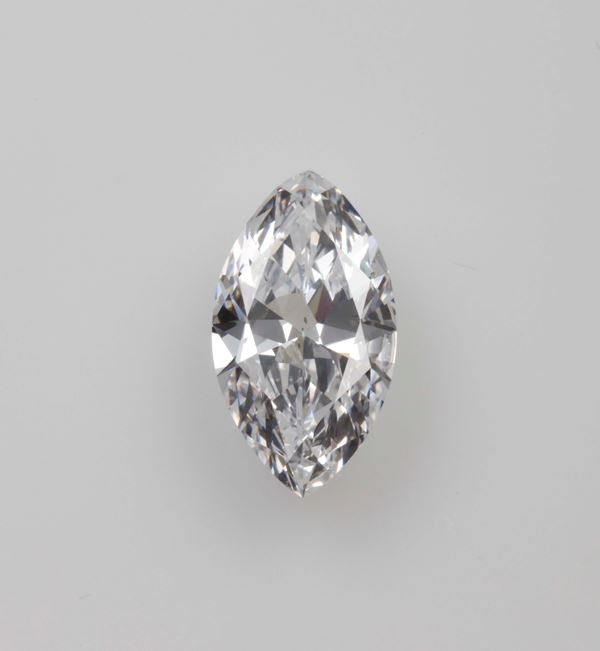 Unmounted marquise-shaped diamond weighing 3.47 carats