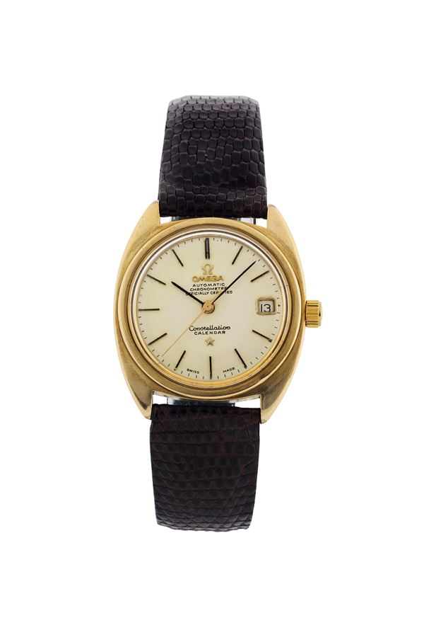 OMEGA, Constellation Calendar, Ref.CD168017, stainless steel and gold plated, self-winding wristwatch with date. Made circa 1966