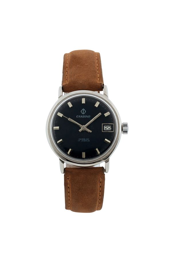 Candino, stainless steel wristwatch with date. Made circa 1970