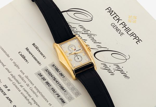 PATEK PHILIPPE,  REF. 5100J,  MILLENNIUM 10 DAYS - YELLOW GOLD, movement  No. 3202475,  Made in a limited  [..]