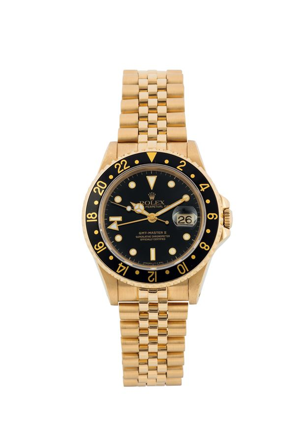 Rolex, Oyster Perpetual Date, GMT-Master II, Superlative Chronometer, Officially Certified, Ref. 16718,  [..]