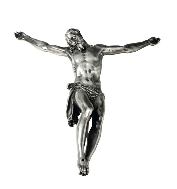 A Corpus Christi in molten and chiselled silver, Italian goldsmith of the 17-18th century