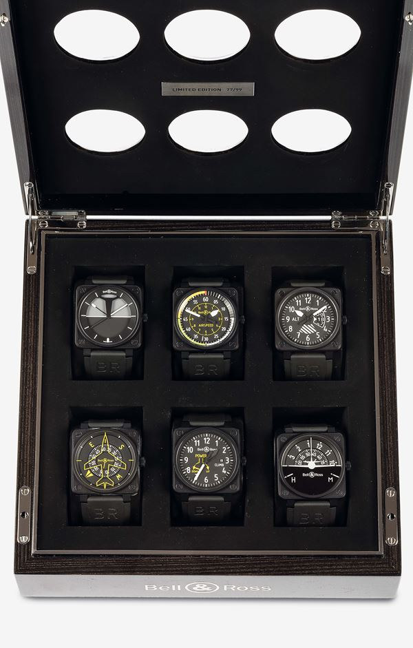 BELL&ROSS, Flight instruments Collection, No.77/99. Only  99 boxes are available, sold in 2014.