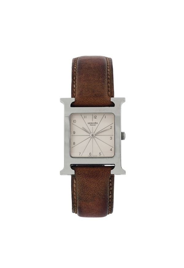 Hermes, stainless steel lady's quartz wristwatch. Made 1969
