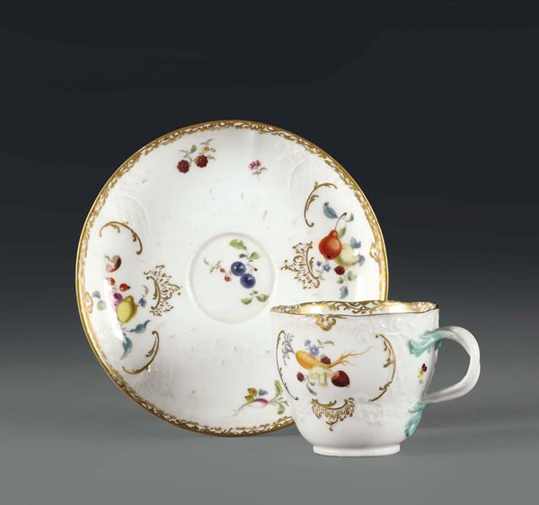 A cup and plate. Meissen, 1770 ca.