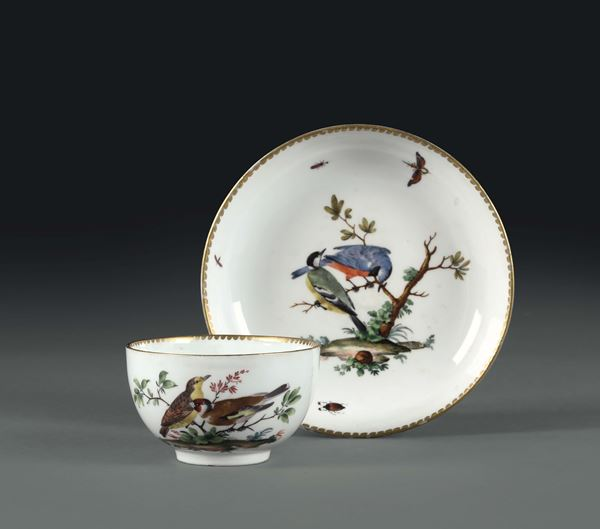 A cup with plate. Meissen, 1750 ca.