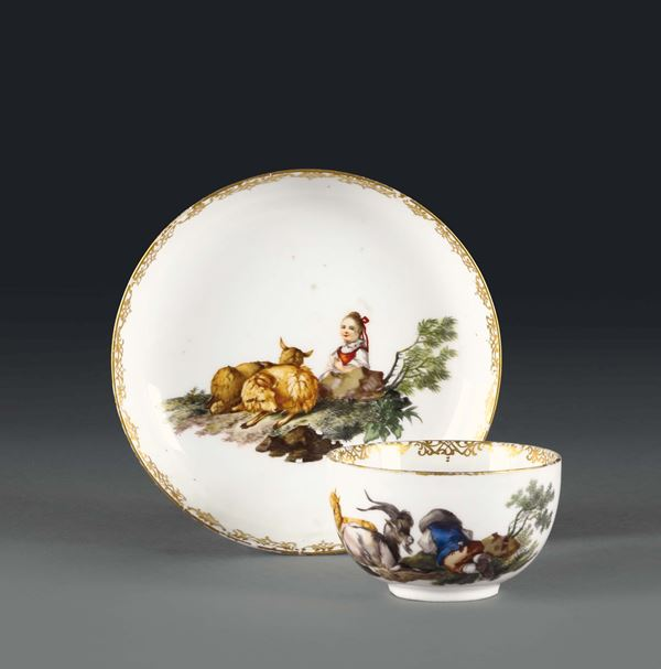A cup with plate. Meissen, 1770 ca.
