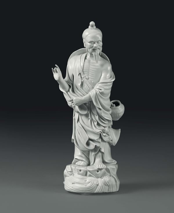 A fisherman in Blanc de Chine porcelain, China, 20th century