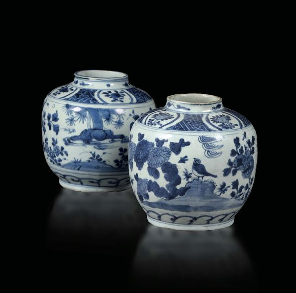 A pair of porcelain vases, China 17th century
