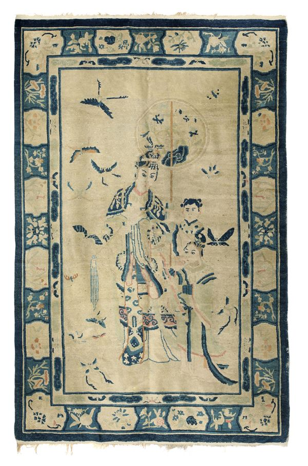 A Chinese carpet, end of the 19th - beginning of the 20th century