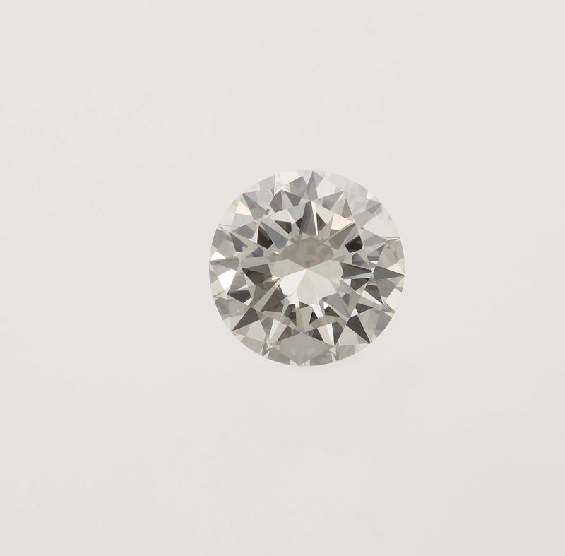 Unmounted brilliant-cut diamond weighing 5.64 carats  - Auction Fine Jewels - Cambi Casa d'Aste
