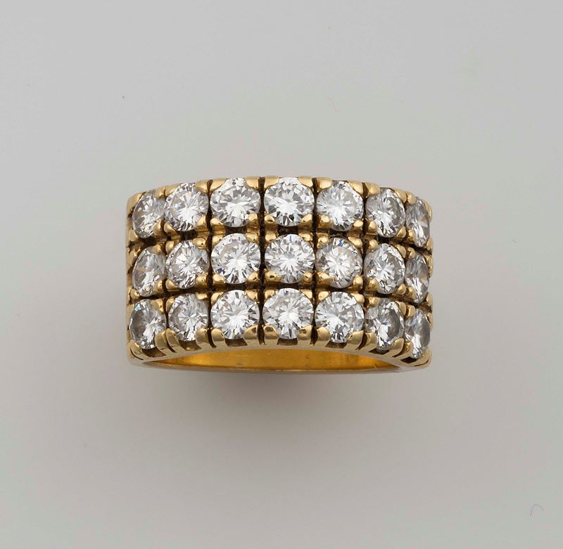 Diamonds and gold ring  - Auction Fine Jewels - Cambi Casa d'Aste