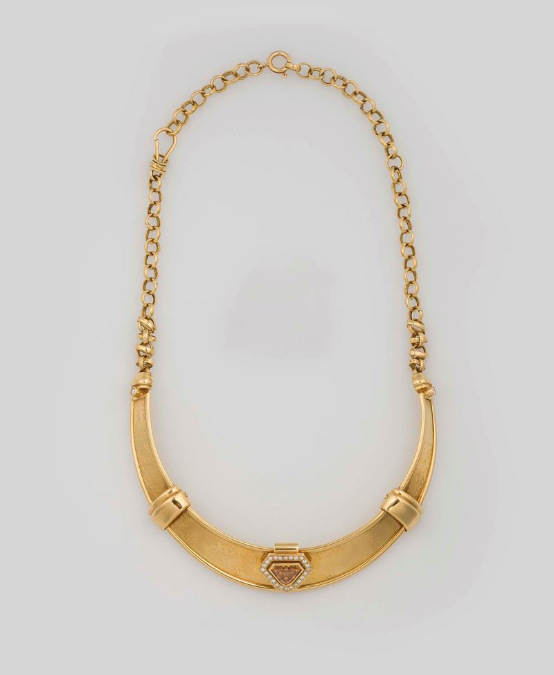 Diamond and gold necklace. Misani  - Auction Fine Jewels - Cambi Casa d'Aste