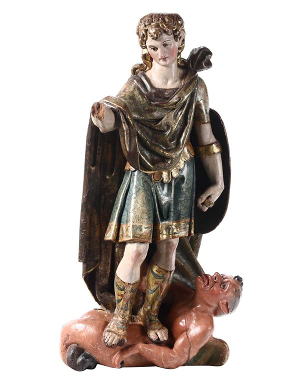 A Saint Michael Archangel, from the circle of Diego Siloe and Bartolome Ordonez