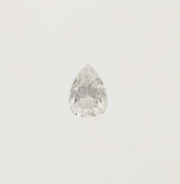 Unmounted pear-shaped diamond weighing 1.61 carats