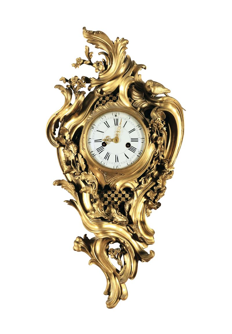 A cartel clock in gilded bronze, France late 18th century  - Auction Important Artworks and Furnitures - Cambi Casa d'Aste