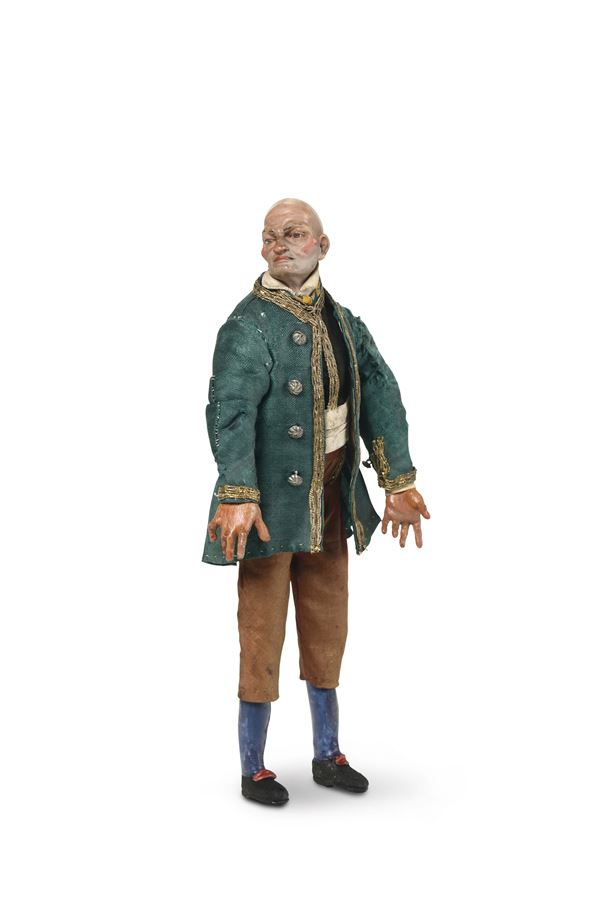 A bald commoner wearing a green tailcoat, Naples 18th century