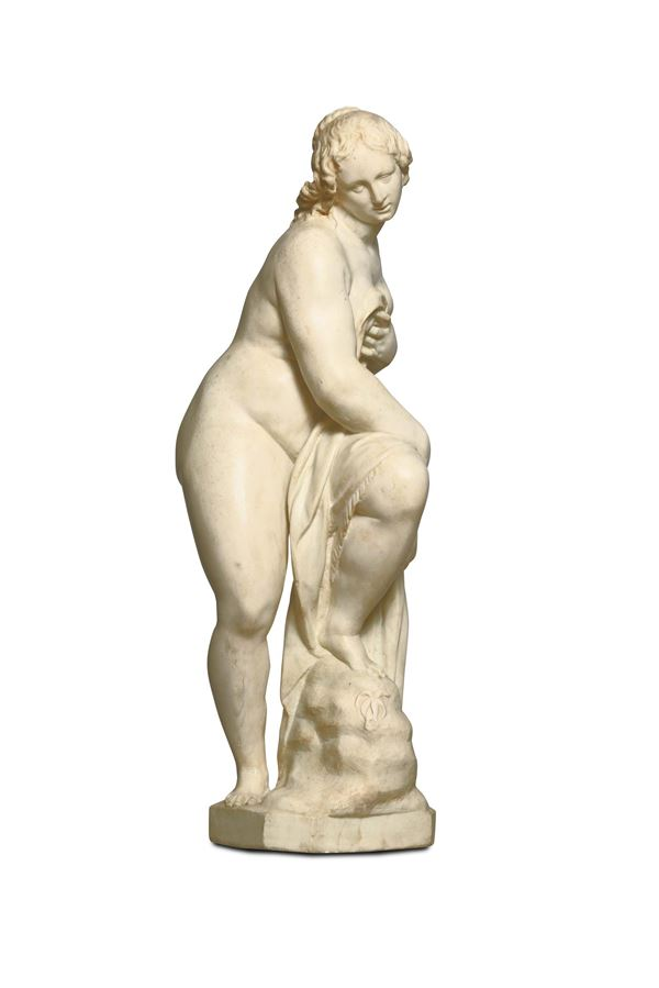 A sculpture in white marble depicting Bathsheba. Lombardy, first half of the 16th century. Giovan Pietro Lasagna (Documented in Milan between 1610 and 1658)