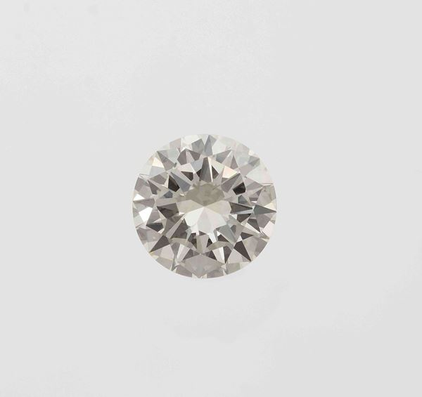 Unmounted brilliant-cut diamond weighing 6.00 carats