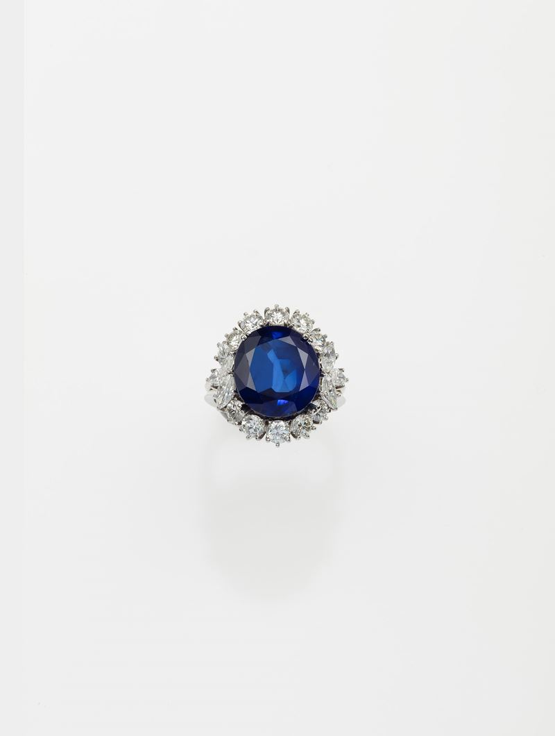 Burmese sapphire weighing 8,806 carats. No indication of heating  - Auction Fine Jewels - Cambi Casa d'Aste